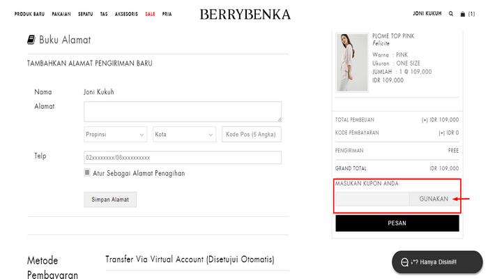 Berrybenka Discount Code